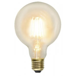 Kolfilament 95mm Lyktlampa Glob LED E27 2100K 230lm 2.3W
