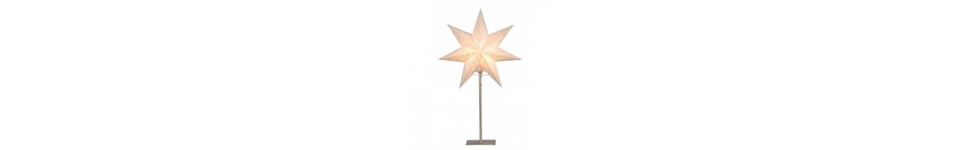 Julstjärnor på fot